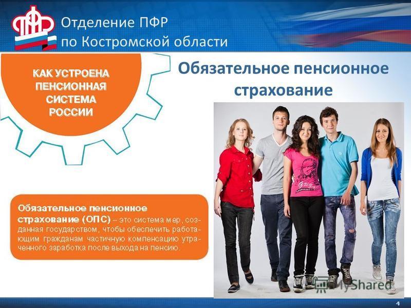 4 Отделение ПФР по Костромской области Обязательное пенсионное страхование