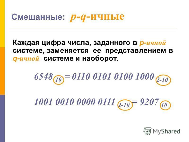 Позиционной называют систему счисления, в которой число представляется в виде последовательности цифр, количественное значение которых зависит от места (позиции), которое занимает каждая из них в числе. 3 3 1 позиция * 1 2 позиция * 10 3 позиция * 10