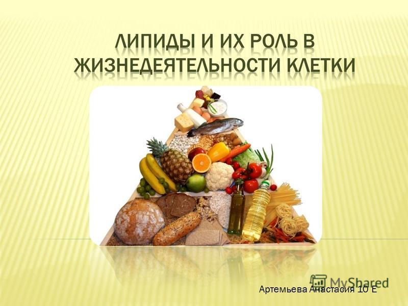 Артемьева Анастасия 10 Е