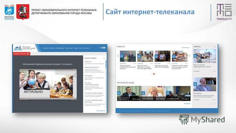 РЕАЛИЗАЦИЯ ПРОЕКТА Сайт интернет-телеканала