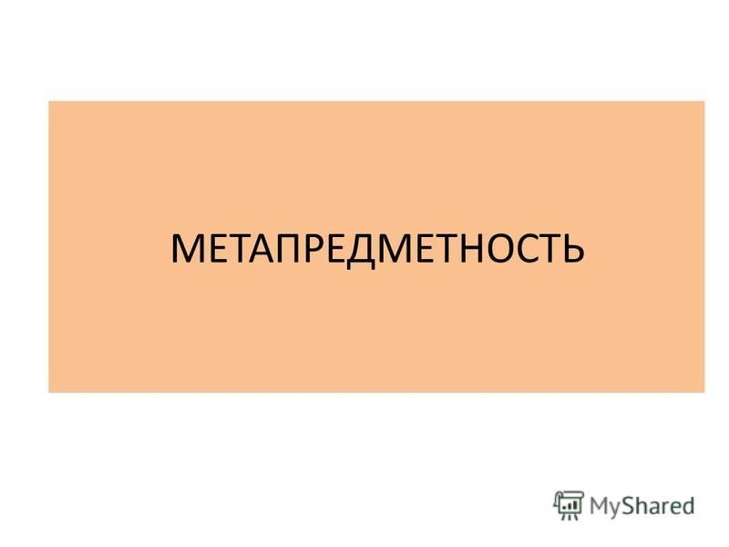 МЕТАПРЕДМЕТНОСТЬ