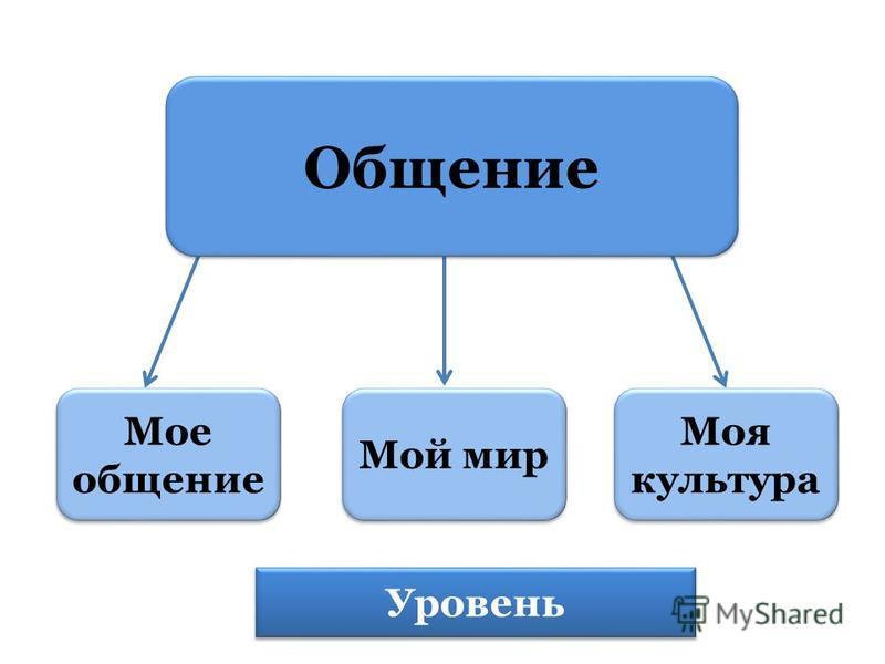 Мое общение Мое общение Мой мир Моя культура Моя культура Уровень Общение