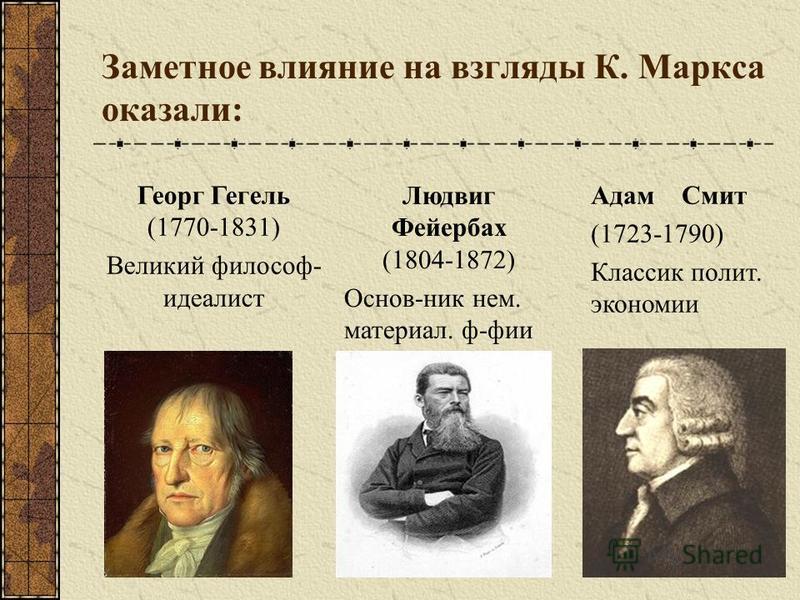 Карл Маркс (5.05.1818-14.03.1883) «Философы лишь различным образом объяснили мир, но дело заключается в том, чтобы изменить его».