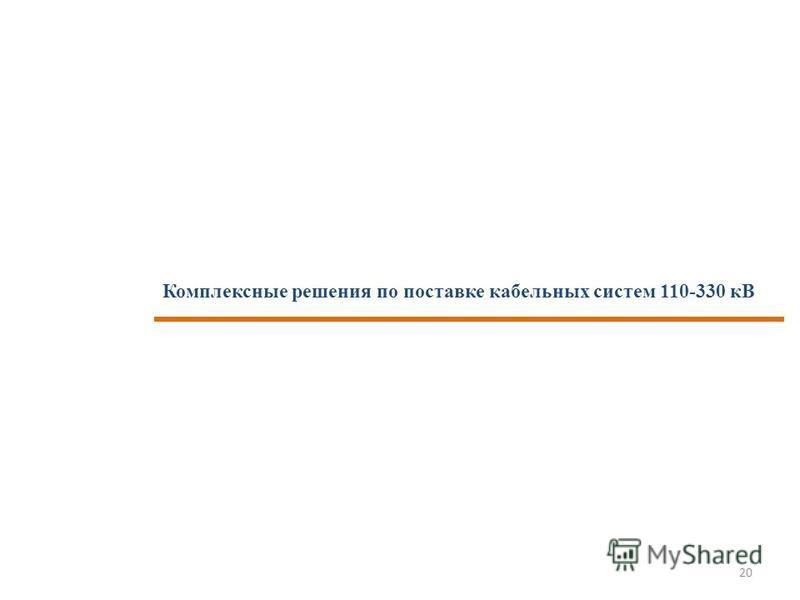 Комплексные решения по поставке кабельных систем 110-330 кВ 20