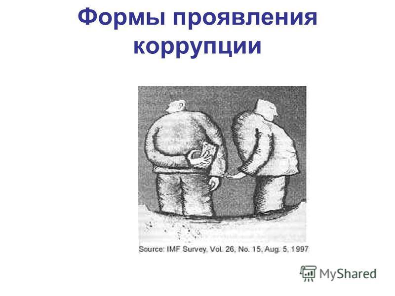 Формы проявления коррупции