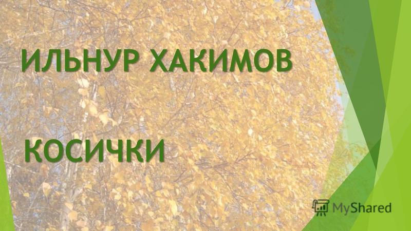 ИЛЬНУР ХАКИМОВ КОСИЧКИ