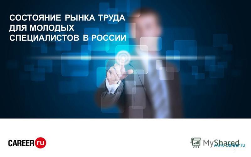 hh.ru лидер среди онлайн – ресурсов для поиска работы и найма персонала www.career.ru СОСТОЯНИЕ РЫНКА ТРУДА ДЛЯ МОЛОДЫХ СПЕЦИАЛИСТОВ В РОССИИ 1