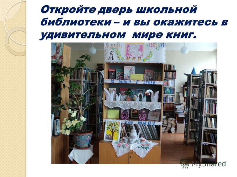 Откройте дверь школьной библиотеки – и вы окажитесь в удивительном мире книг.