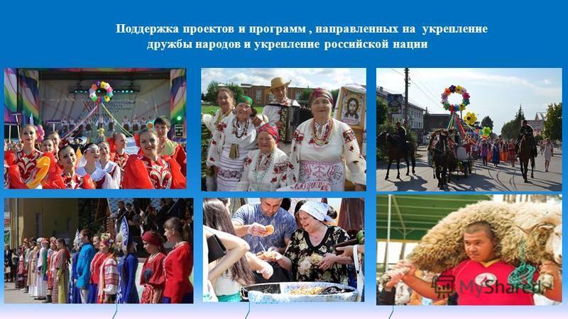 November 10, 2015sciberia.ru Слайд 12 Поддержка проектов и программ, направленных на укрепление дружбы народов и укрепление российской нации