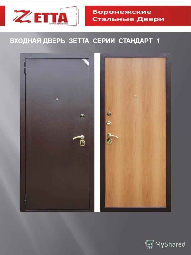 ВХОДНАЯ ДВЕРЬ ЗЕТТА СЕРИИ СТАНДАРТ 1