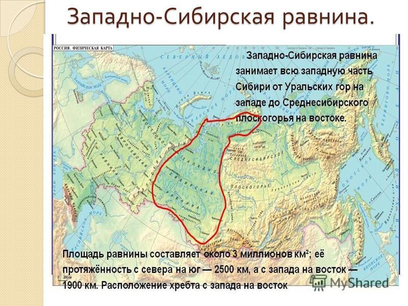 Западно - Сибирская равнина.