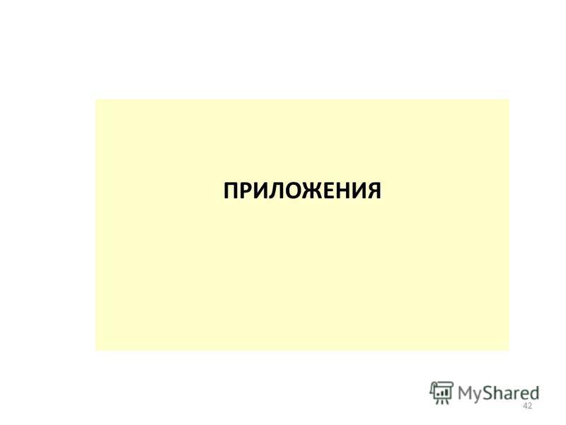 ПРИЛОЖЕНИЯ 42