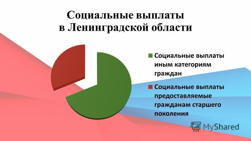 Социальные выплаты в Ленинградской области