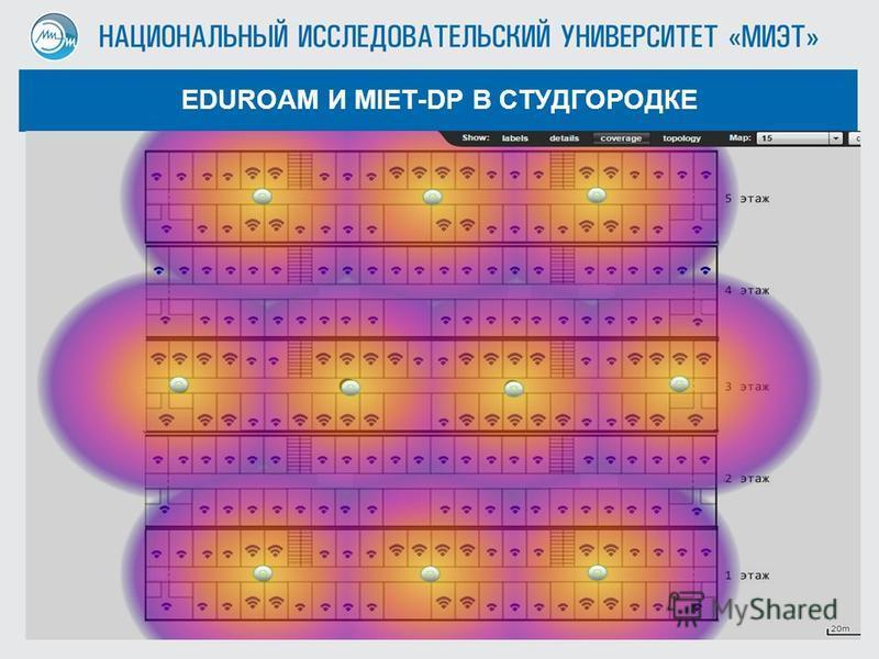 Кучеров А.Н. EDUROAM И MIET-DP В СТУДГОРОДКЕ