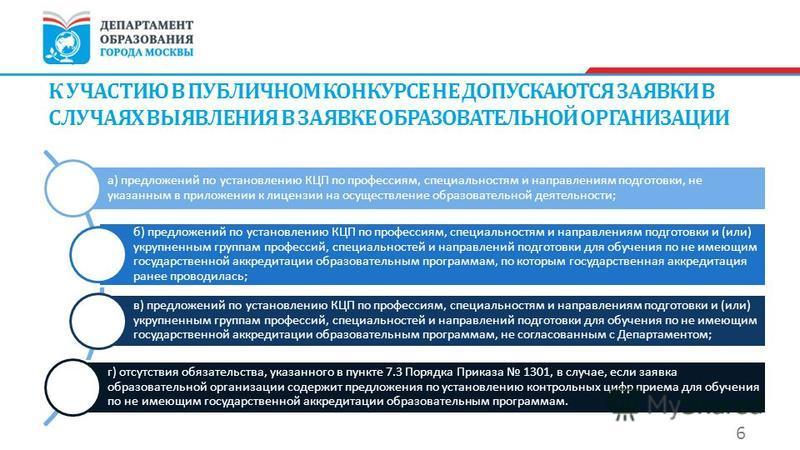 а) предложений по установлению КЦП по профессиям, специальностям и направлениям подготовки, не указанным в приложении к лицензии на осуществление образовательной деятельности; б) предложений по установлению КЦП по профессиям, специальностям и направл