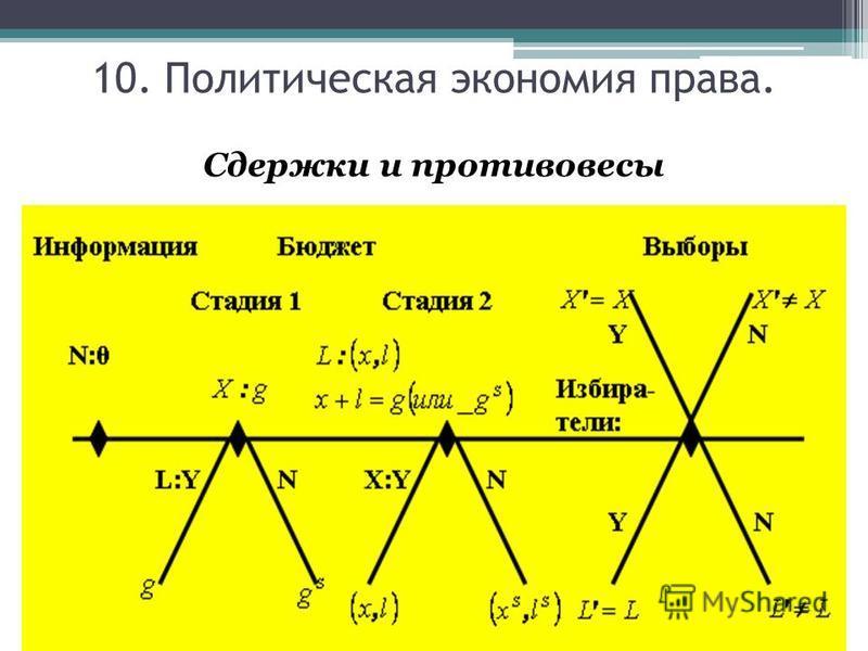 Сдержки и противовесы 10. Политическая экономия права.
