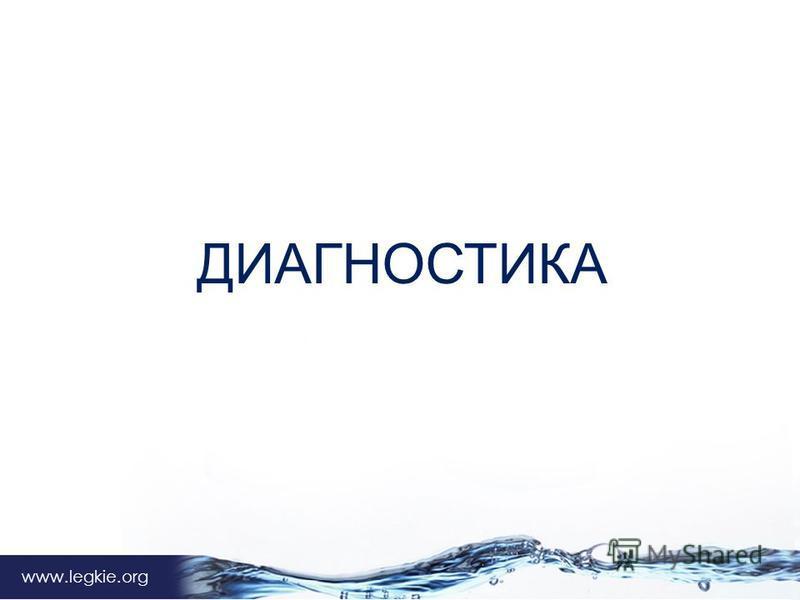 Владимир Архипов www.legkie.org ДИАГНОСТИКА