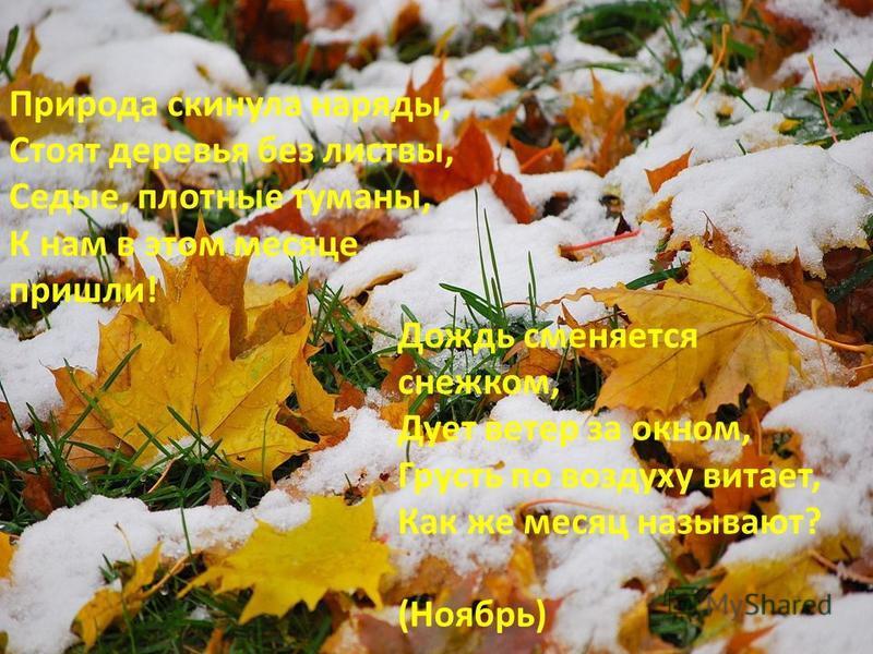 Быстро тает октябрьский день - не привяжешь за плетень. Октябрь землю прикроет где листком, где снежком. Октябрь ни колеса, ни полоза не любит. В октябре на одном часу и дождь и снег.