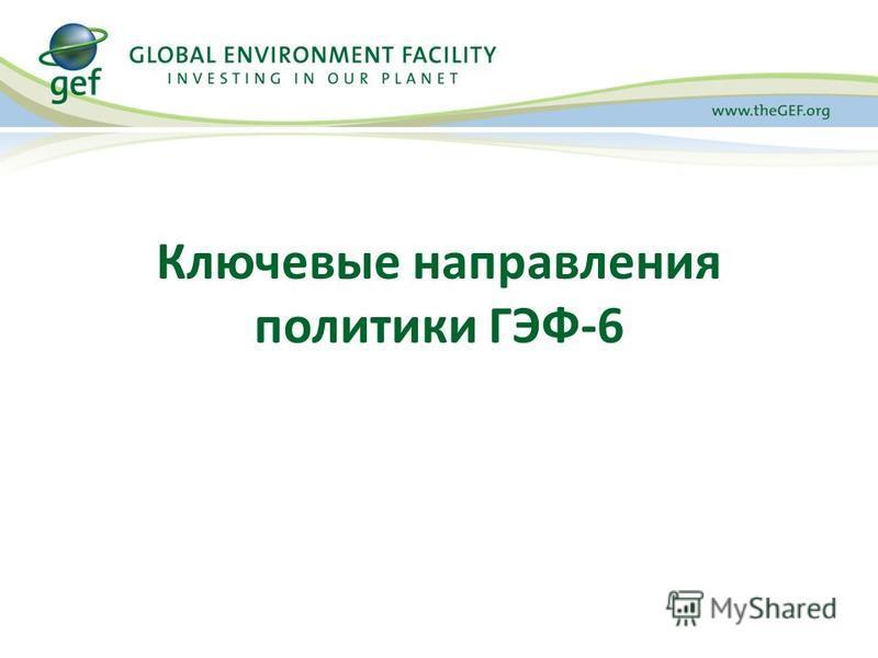 Ключевые направления политики ГЭФ-6