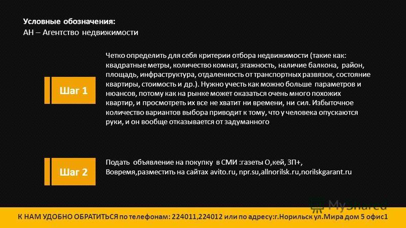 НАВИГАТОР по безопасной покупке недвижимости К НАМ УДОБНО ОБРАТИТЬСЯ по телефонам: 224011,224012 или по адресу:г.Норильск,ул.Мира дом 5 офис 1