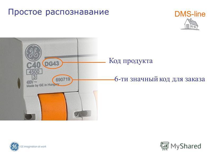 Код продукта DMS-line Простое распознавание 6-ти значный код для заказа