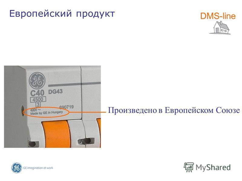 Произведено в Европейском Союзе DMS-line Европейский продукт