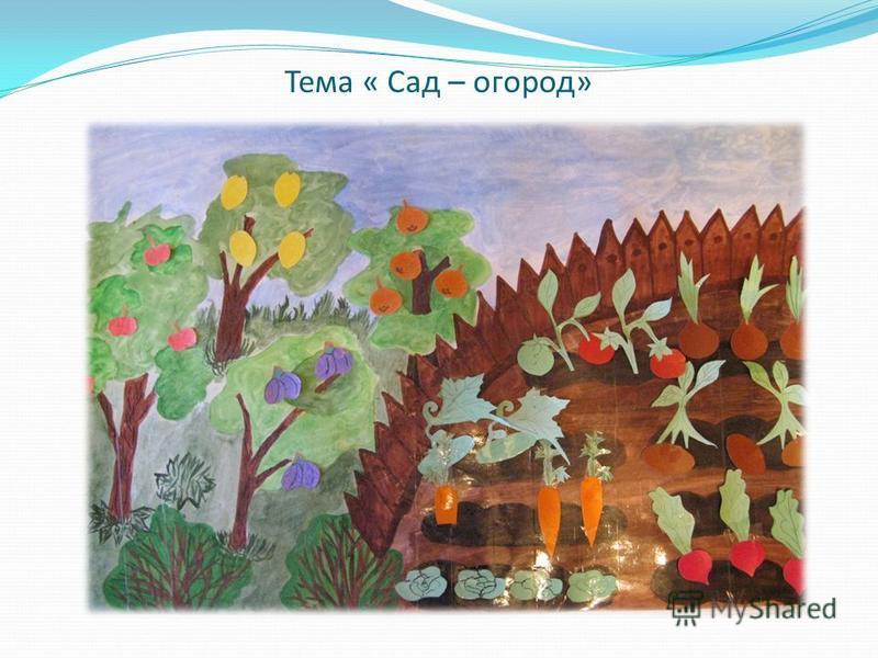 Тема « Сад – огород»