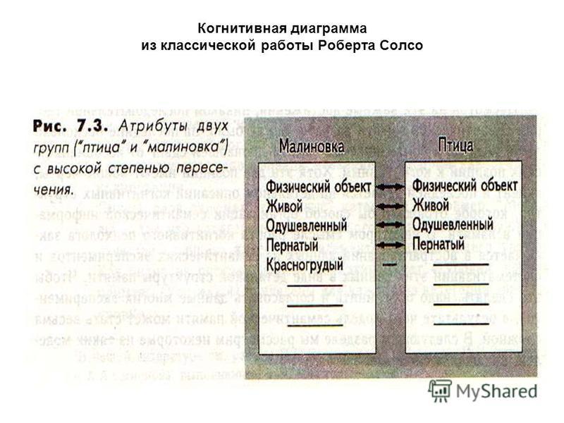 Когнитивная диаграмма из классической работы Роберта Солсо