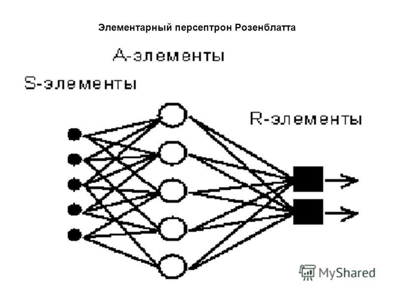 Элементарный персептрон Розенблатта