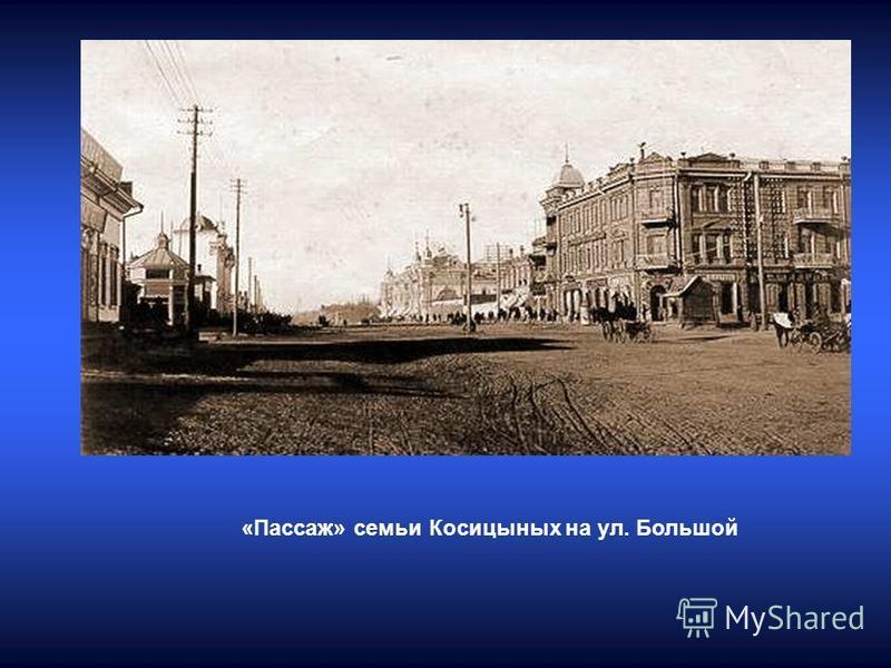«Пассаж» семьи Косицыных на ул. Большой