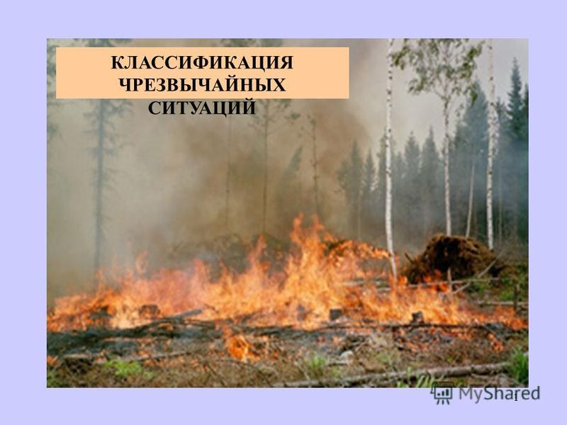 КЛАССИФИКАЦИЯ ЧРЕЗВЫЧАЙНЫХ СИТУАЦИЙ 1