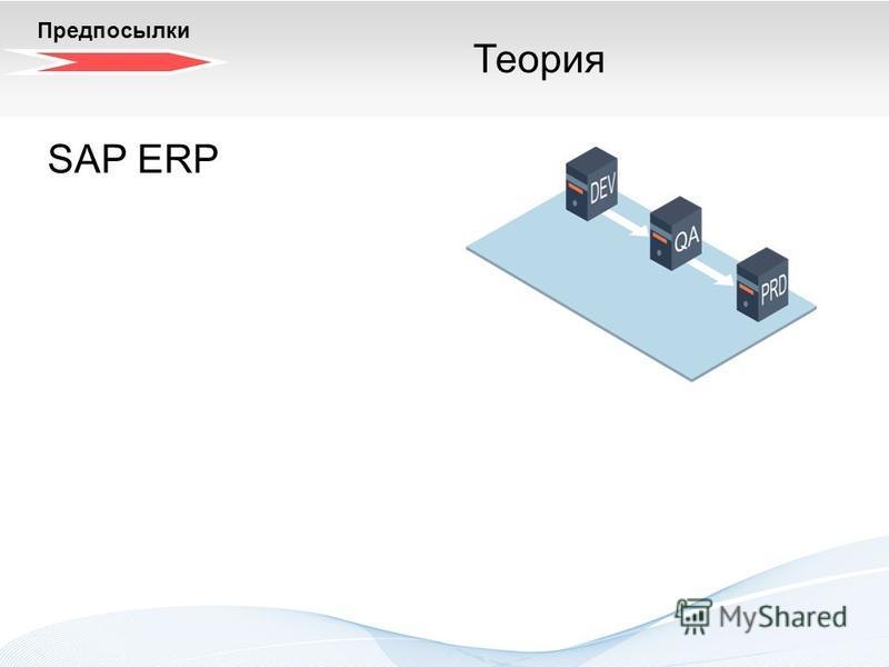 Трехзонный системный ландшафт. Теория SAP ERP Предпосылки Теория