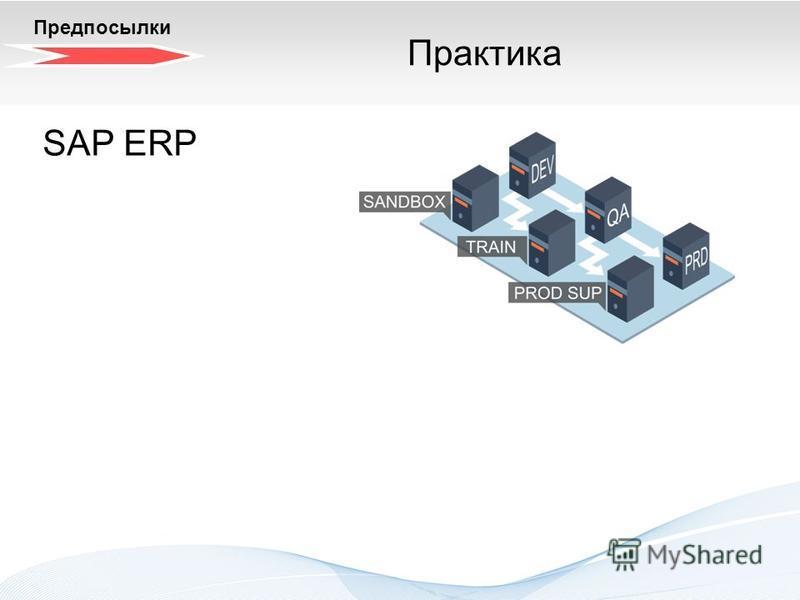 Трехзонный системный ландшафт. Теория SAP ERP Предпосылки Практика