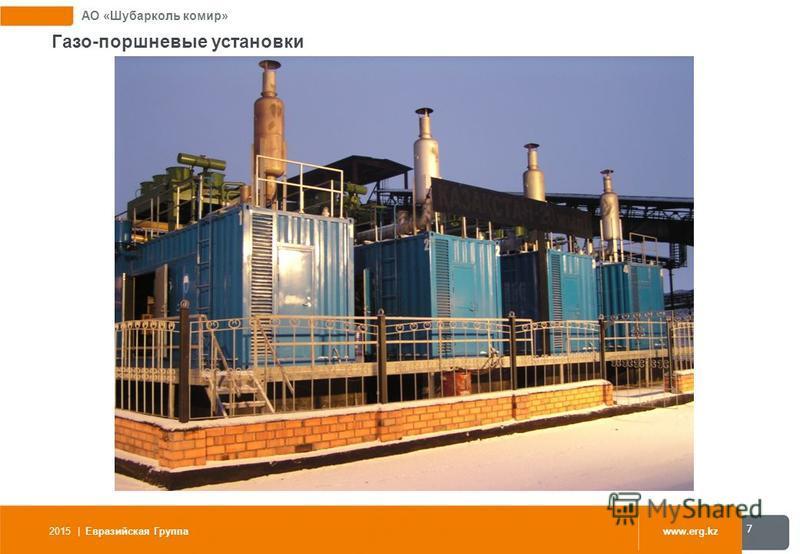 АО «Шубарколь комир» Газо-поршневые установки 2015 | Евразийская Группаwww.erg.kz 7