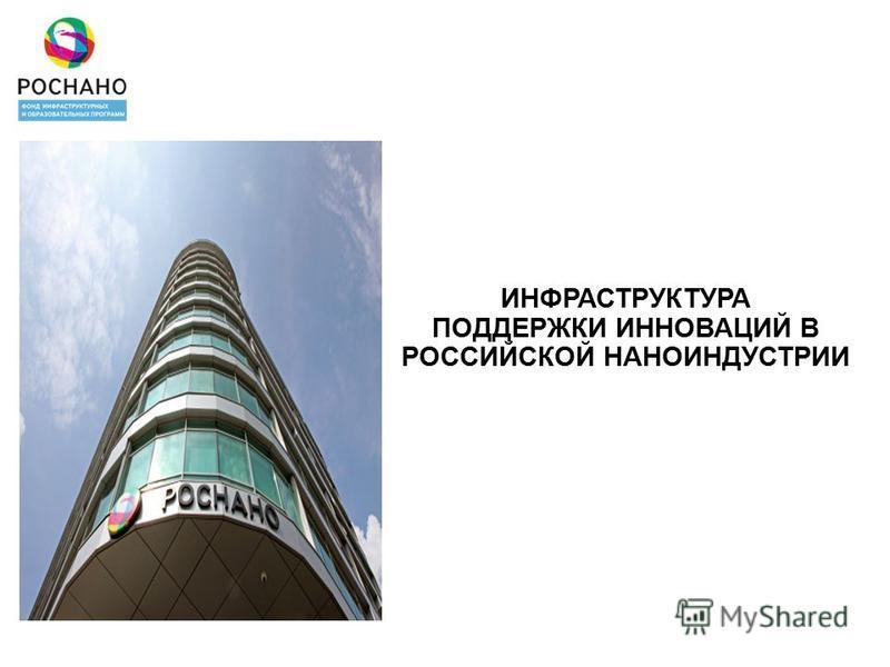 ИНФРАСТРУКТУРА ПОДДЕРЖКИ ИННОВАЦИЙ В РОССИЙСКОЙ НАНОИНДУСТРИИ