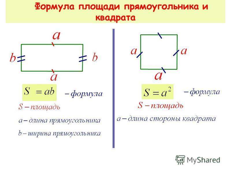 Площадь квадрата S = a · а S = a 2 а а 10.11.2015 7