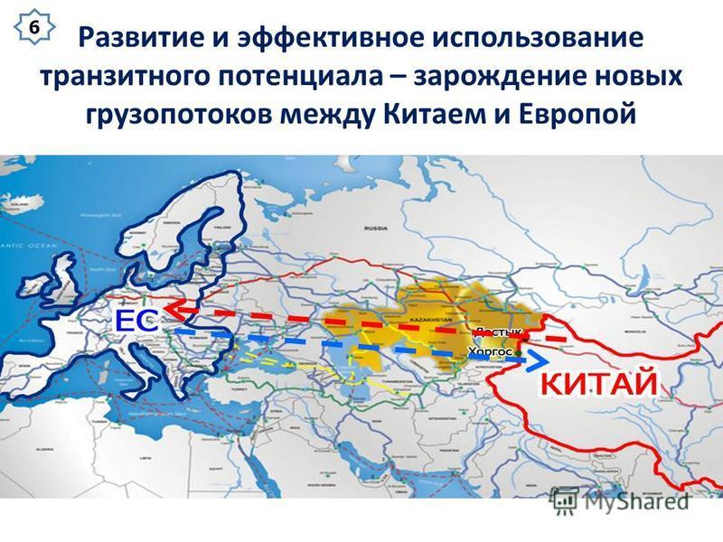 Развитие и эффективное использование транзитного потенциала – зарождение новых грузопотоков между Китаем и Европой 6