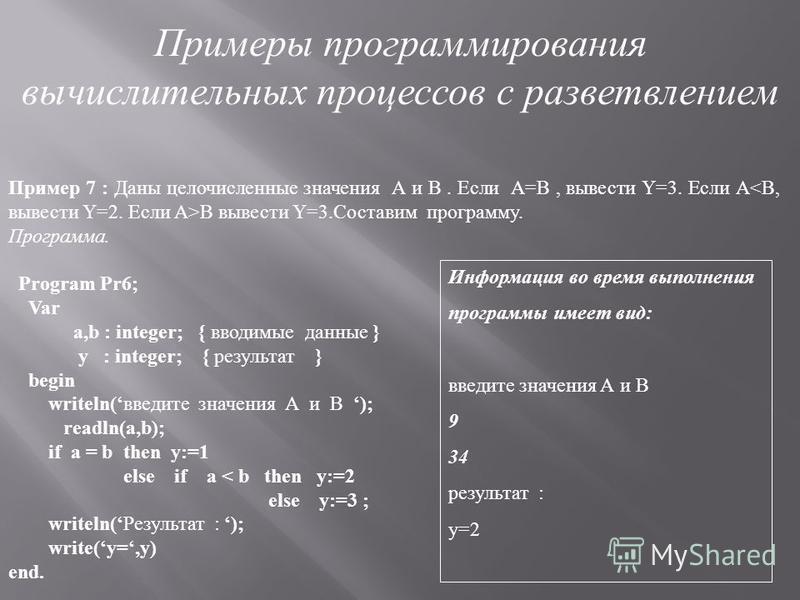 Однако в некоторых случаях оператор безусловного перехода оказывается весьма полезным. Например, пусть необходимо прекращать выполнение программы, если встечаются так называемые ситуации прерывания выражения, содержащие функции логарифма LN или корня