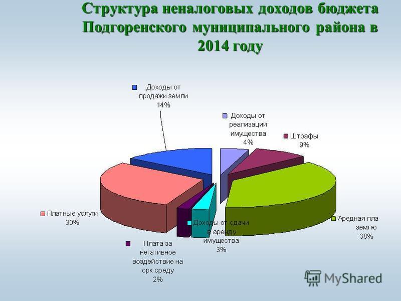 Структура неналоговых доходов бюджета Подгоренского муниципального района в 2014 году