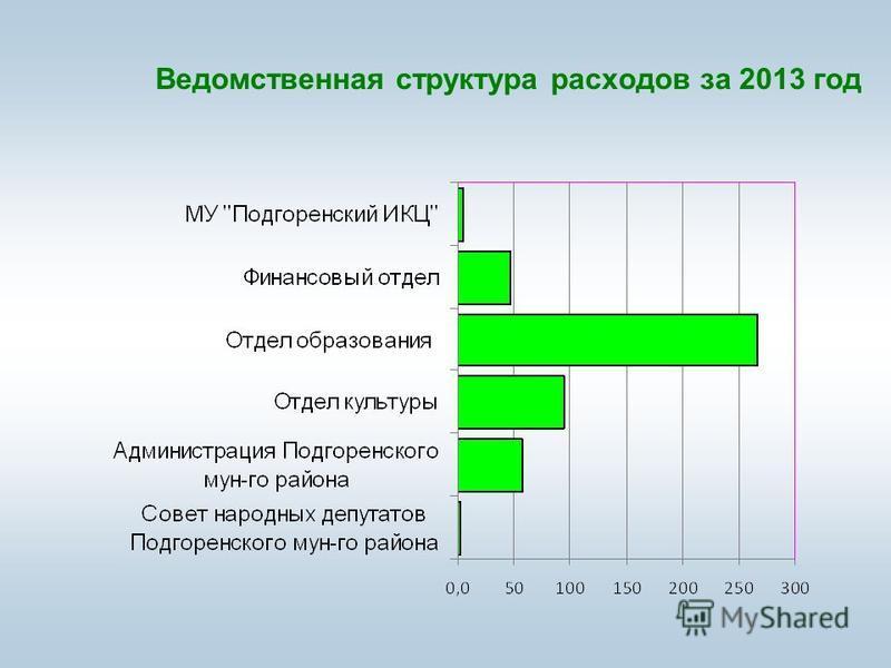 Ведомственная структура расходов за 2013 год