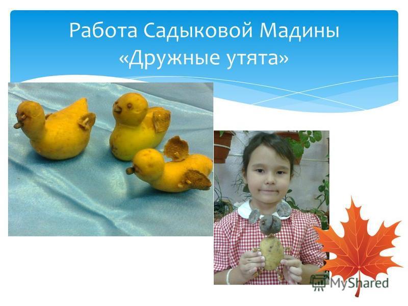 Работа Садыковой Мадины «Дружные утята»