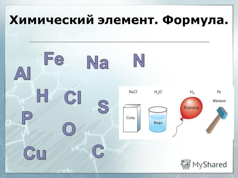 Химический элемент. Формула.