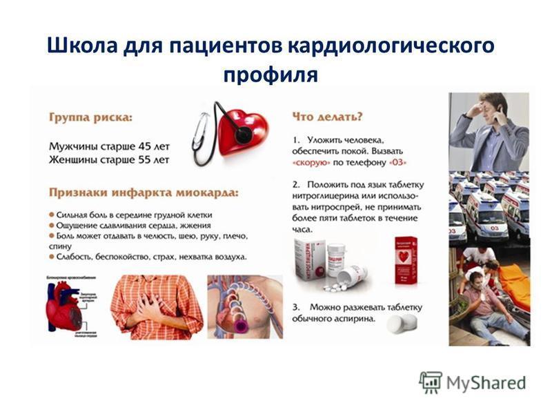 Школа для пациентов кардиологического профиля