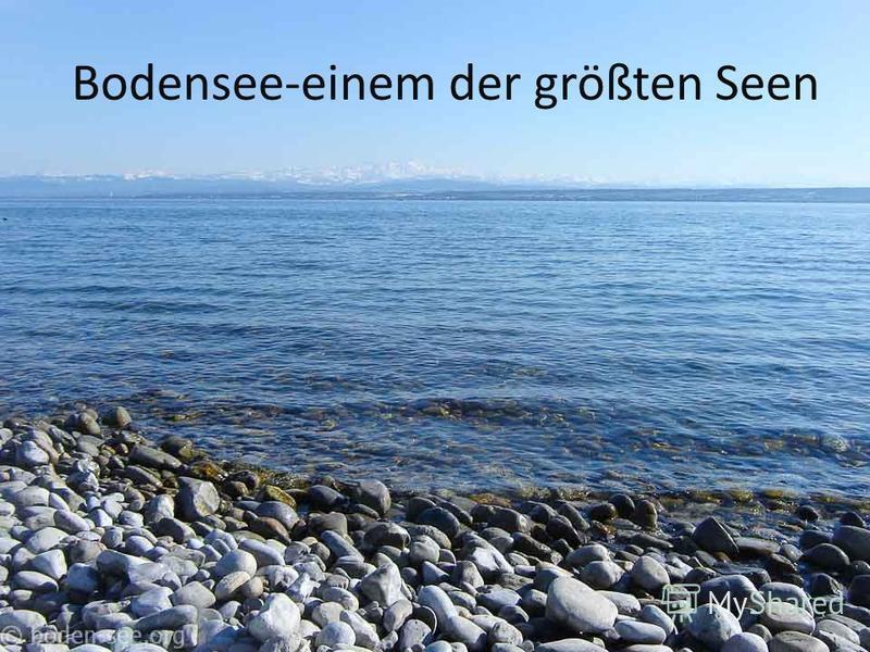 Bodensee-einem der größten Seen