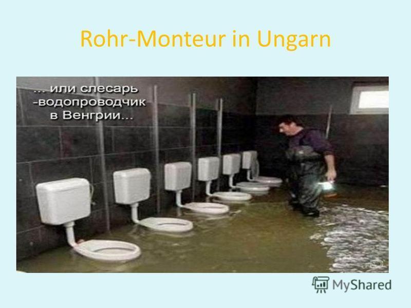 Rohr-Monteur in Ungarn