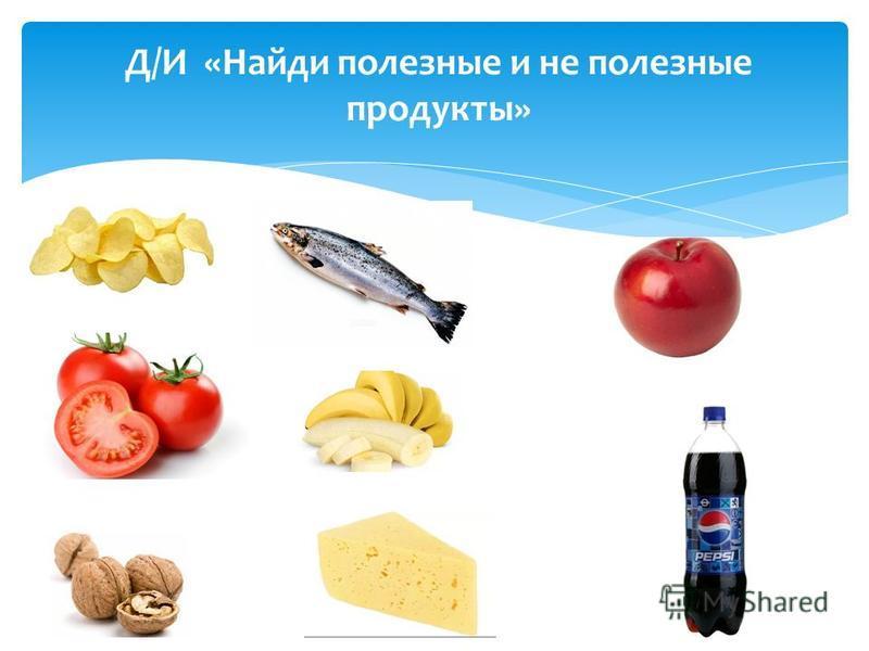 Д/И «Найди полезные и не полезные продукты»