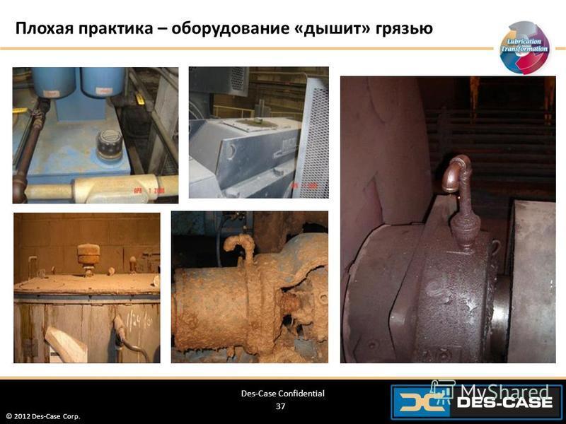 © 2012 Des-Case Corp. 37 Плохая практика – оборудование «дышит» грязью Des-Case Confidential