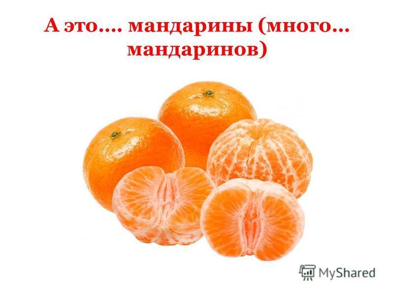 А это…. мандарины (много… мандаринов)