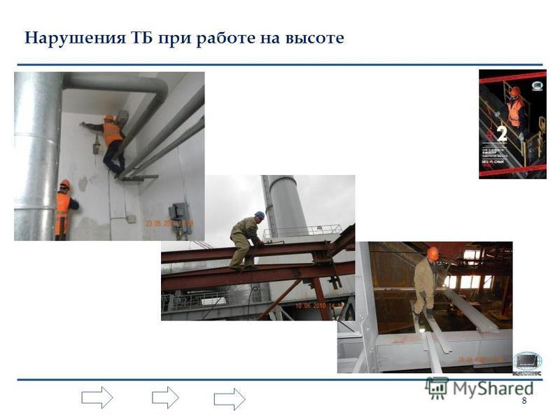 8 Нарушения ТБ при работе на высоте