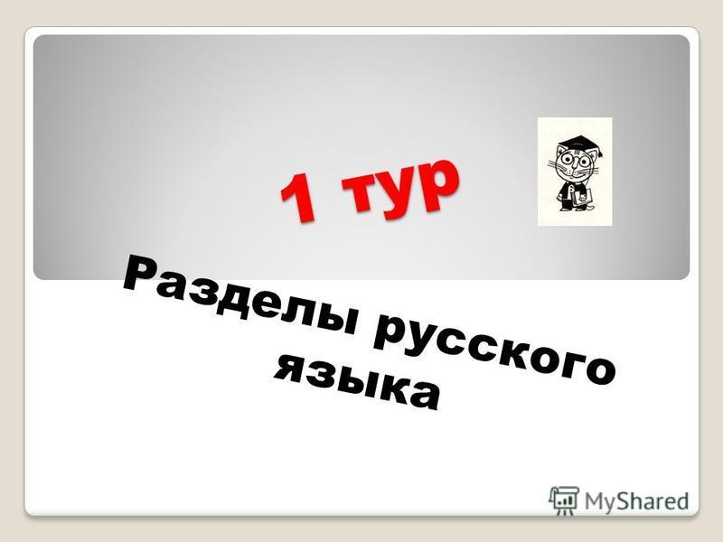 1 тур Разделы русского языка